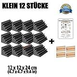 Super Dash 12 Stücke von 12 X 12 X 24 cm Bass Strap Akustikschaumstoff Noppenschaumstoff Akustik Dämmmatte Schallisolierung Schaumstoff Polster Fliesen SD1133