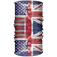 jiantsk Unisex Vintage American British Flag Multifunction Changed Headwear Headscarf Bandanas