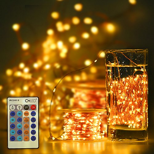 LED-Lichterkette mit Kupferdraht - mit wenigen Handgriffen eine elegante Weihnachtsdeko zaubern