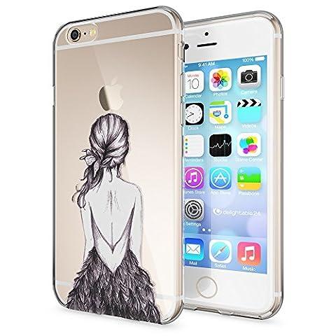 Apple iPhone 6 6S Hülle Handyhülle von NICA, Slim Silikon Case Cover Crystal Schutzhülle Dünn Durchsichtig, Etui Handy-Tasche Backcover Transparent Bumper für i-Phone 6 6S, Designs:Bird Princess