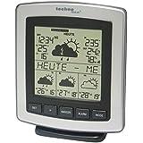 WetterDirekt Wetterstation WD 4204 mit Innen- /Außentemperaturanzeige, Wettervorhersage für 4 Tage und Wetterdaten für über 50 Regionen