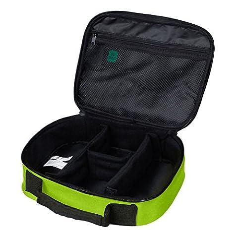 BAGSMART Housse Organisateur d'Accessoires Electroniques Sac de Rangement pour Disque Dur/ Câbles/ Chargeur/ iPad Mini/ Batterie Organisateur D'emballage Voyage(Vert)