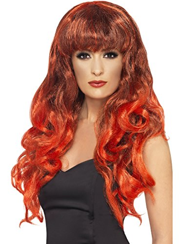 Verkleidung Kostüm Karneval Damen Perücke Sirene Glamour * 09882, mehrfarbig Einheitsgröße