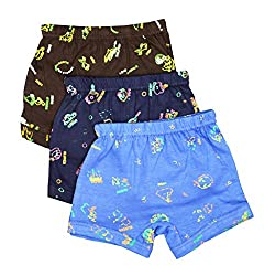Elk Kids Baby Girls Printed Trouser Bloomer Innerwear 3 Piece Combo