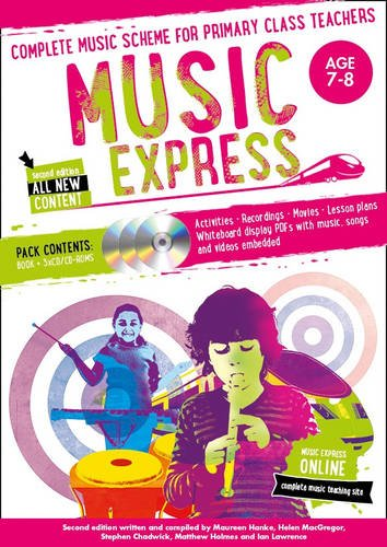 Music Express – Music Express: Age 7-8 (Book + 3CDs + DVD-ROM): Complete music scheme for primary class teachers por Helen MacGregor