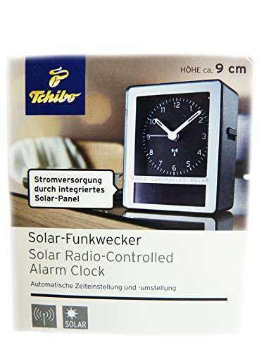 TCM Tchibo Solar Funkwecker Wecker automatische Zeiteinstellung Uhr