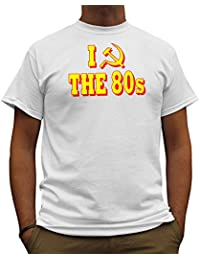 Nutees I Love 80's Fancy Dress Costume Party Funny Mens T Shirt - White