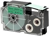 Casio XR-18GN1 - Cintas para etiquetadoras, color negro / verde