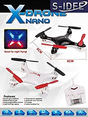 S-idee® 01162 | H107 Quadcopter Remote-Control 4.5 Channel 2.4 GHz Helicopter with Gyroscope Technology For indoors and outdoors, with built-in gyro and 2.4 GHz controller Ready to fly.