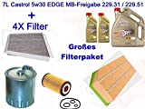 Filterpaket Inspektionskit Mercedes C-klasse W203 S203, gebraucht gebraucht kaufen  Wird an jeden Ort in Deutschland