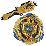 perfeclan Giocattolo di Trottole Peonza di Battle Fusion Metallo 4D+ Launcher di Trompo de Batalla,Divertente Gioco per Bambini