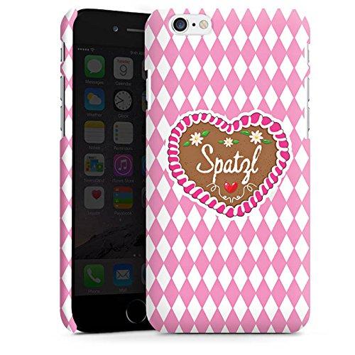 Apple iPhone 6s Silikon Hülle Case Schutzhülle Oktoberfest Spatzl Lebkuchenherz Premium Case matt