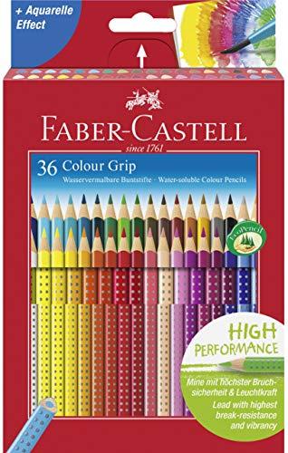 Farb-kunst-druck (Faber-Castell 112442 - Buntstift Colour Grip, 36er Kartonetui)