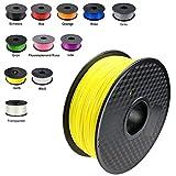 DEMU 3D Drucker Filament PLA Spule Rolle 1kg 1.75mm für 3D Drucker 3D stifte (Gelb)
