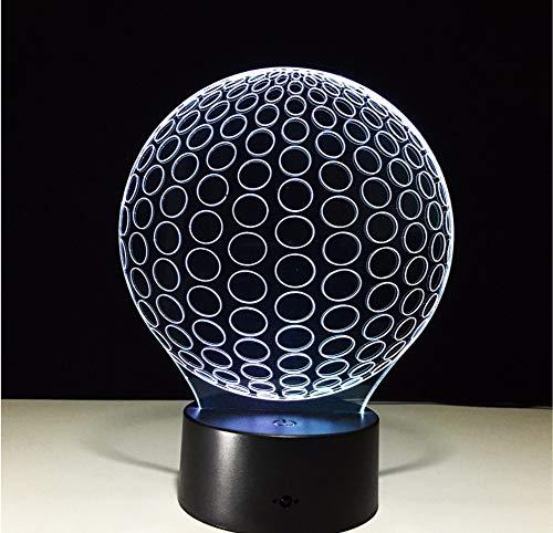 Lyqyzw Golf 3D Led Nightlights Kreis Ball Aus Acryl Tischlampe Wohnzimmer Schlafzimmer Exquisite Geburtstagsgeschenk Für Kinder