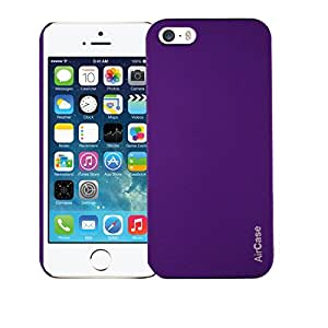 AirCase Matte Finish Hard Back Case Cover for Apple iPhone 5/5S (Purple)