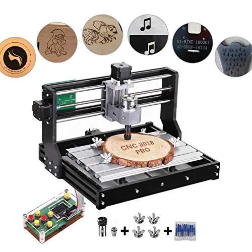 ETE ETMATE CNC 3018 Pro GRBL Control DIY Mini CNC Machine, Fresadora de PCB  de 3 ejes, Grabador de madera con controlador fuera de línea, Plástico