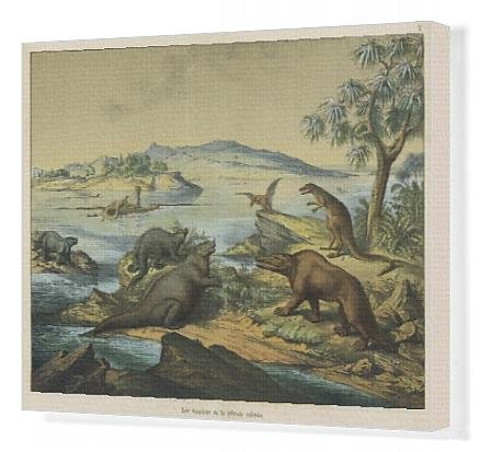 Canvas Print of Animals and plants of the post-Jurassic era