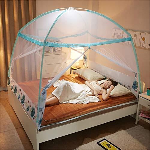 FCZH Pop Up Moskitonetz Zelte, feinste Löcher, Baldachin, Insektenschutz, Faltdesign mit Boden, 2 Einträge, (extra fein),B,1.8×2m -