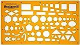 Trace Schablone Kreis Quadrat Rechteck Pfeil Ellipse Triangle Sechseck Pentagon Symbole–Technische Zeichnungen Tracking Illustration