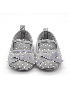Hongfei Zapatos de niña de algodón con lunares suaves para caminar
