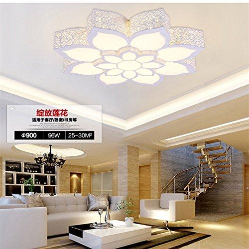 Ferro Lotus acrilico soffitto circolare moderno moda minimalista potere creativo energia 32-74w risparmio interruttore di comando a distanza , adjustable light , 74w 90*13cm