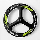 Aurora Racing Super 70mm 3K Road 3Speichen Carbon Laufradsatz Light Gewicht 700C tubular Carbon OEM Road Fahrrad Rollen, Road Front+Rear Wheels
