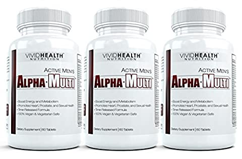 Active Men's Alpha-Multi (3 Bottles) - Maximum Strength Multivitamin for