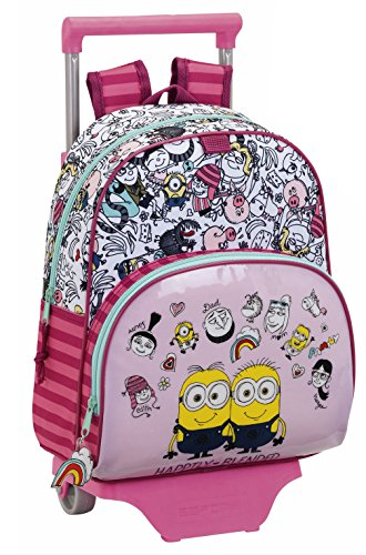 Minions 3 Chica Cartable, 34 cm, Rose (Rosa)