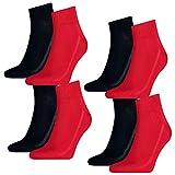 Levis Unisex Socken Mid Cut 168SF 4er Pack, Größe:43-46, Farbe:Red/Blue (505)