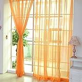 #3: Rrimin Window Curtain Drape Scarfs Valances for Living Room Bedroom Balcony Orange
