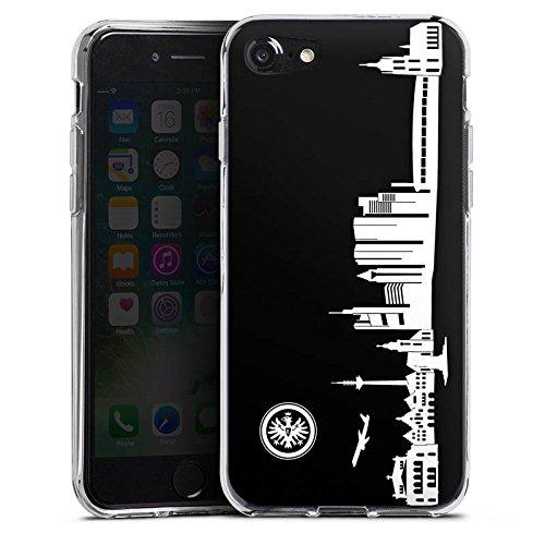 Apple iPhone 8 Hülle Premium Case Cover Eintracht Frankfurt Fanartikel skyline Silikon Case transparent