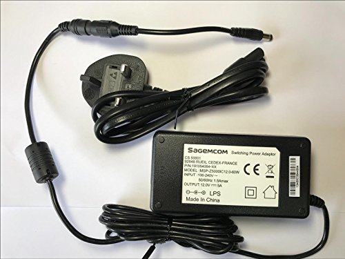 12V 5A mit AC-Adapter für M & S 19-LED-TV DVD Combo mit schwarz-weiß-Muster ms1906F001 - Combo Dvd Tv Und