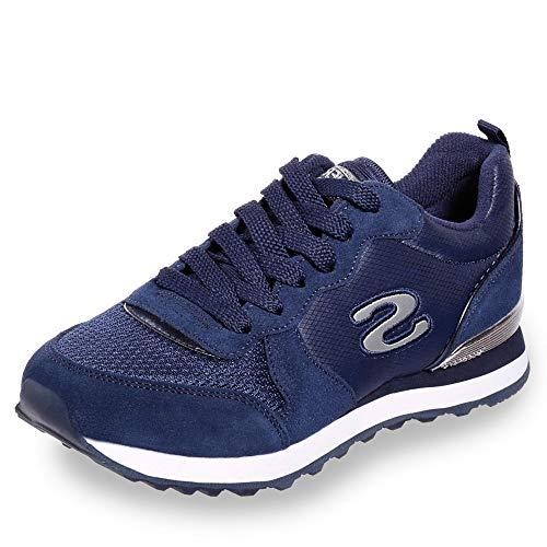 Skechers Damen Retros-og 85-goldn Gurl Sneaker, ((Navy Suede/Mesh/Nylon/Silver Trim NVY), 5 EU Retro-sneaker
