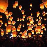 10 x bunte Papierlaterne Flying Wishing Lampe Chinesische Laterne Himmel Laternen Air Kongming-Laterne für Geburtstag Hochzeit Weihnachten Party Dekoration Supplies