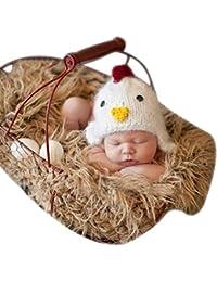 SaiDeng Bebé Recién Nacido Photo Lindo Caricatura Hat De Apoyo De La Fotografía Gris Blanco