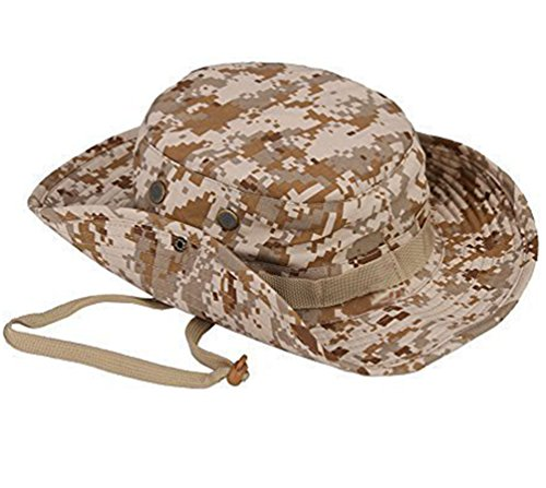 e65a0fd4b66d5 Wicemoon Men s Sun Hat Camouflage Bucket Hat Military Fishing Camping Cap  Hunting Jungle Wide Brim Bucket