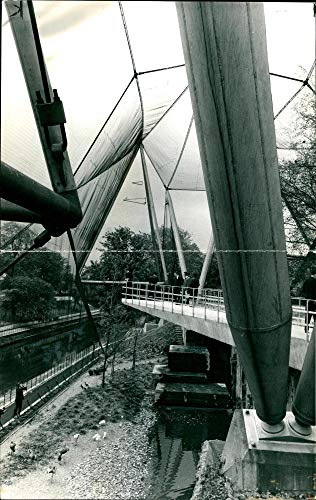 Fotomax Vintage Photo of The New Northern Aviary at The Zoo. (Photo Aviary)