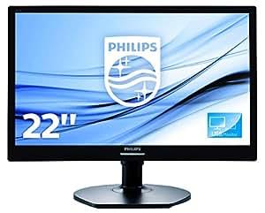 Philips 221S6QUMB/00 54,6 cm (21,5 Zoll) Monitor (DVI, USB, 1920 x 1080, 60 Hz, Pivot) schwarz