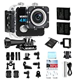 WiMiUS L1 Action Cam 4K Actioncam Wifi Action Kamera 20MP HD Action Camera 170° Weitwinkel 2 Zoll...