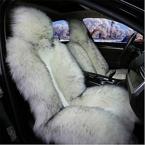 Zeitgenössisches Gewebe-abdeckung (GAOFEI Luxus australische Schaffell Autositzkissen Abdeckung Auto Sitzbezug , gray)