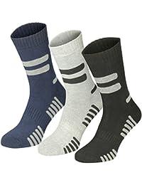 Lavazio® 6 | 12 | 18 | 24 Paar Herren Arbeitssocken Sportsocken Thermo Socken dick & herrlich schwarz/grau, mehrfarbig, grau/blau Töne