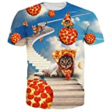 NEWISTAR Unisex 3d Animal Printed Summer Casual Short Sleeve T Shirts Tees Size M