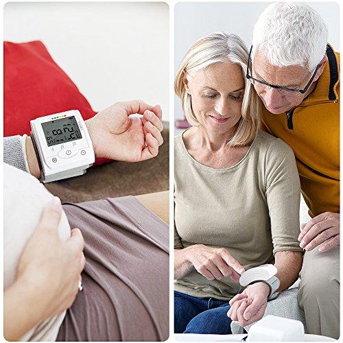 Blutdruckmessgerät Handgelenk Hylogy Vollautomatische professionelle Blutdruk-und Pulsmessung 2*120 Speicherplätze, LCD großem Display und Tagbare Aufbewahrungsbox - 6