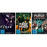 The Purge - Teil 1 + 2 + 3 ( die Säuberung + Anarchy + Election Year) im Set - Deutsche Originalware
