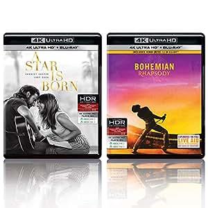 A Star Is Born & Bohemian Rhapsody (4K UHD & HD) (4-Disc)