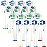 Ricambi Spazzolini Elettrici Oral B, Testine di ricambio per spazzolino elettrico compatibile con Oral-B Braun include 4pzs Precision Clean, 4pzs Floss Action, 4pzs Cross Action e 4pzs 3D White