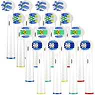 Toothbrush Heads Oral B Compatible Electric Toothbrush Replacement Brush Head,for Oral b Toothbrush Head Includes 4 Precision Clean EB20, 4 Floss Action EB25,4 Cross Action EB50&4 3D White EB18,16pcs