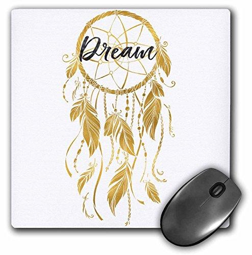 3dRose Mp_271090_1 - Alfombrilla de ratón con diseño de atrapasueños inspirador dorado de 8 pulgadas, multicolor