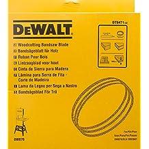 DeWalt DT8471-QZ - Hojas para sierra de cinta para madera, contornerar en madera, ancho 6 mm